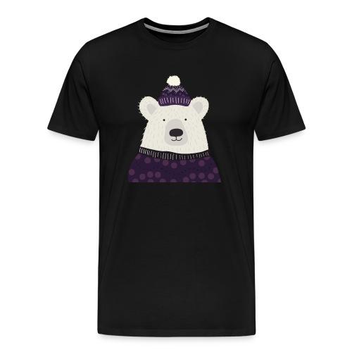 Eisbär Winter - Männer Premium T-Shirt
