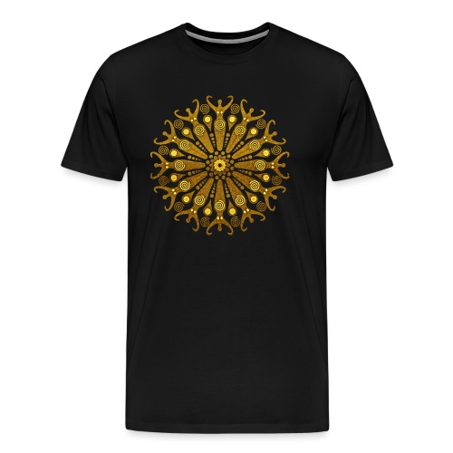 circle of fertility goddess gold - Männer Premium T-Shirt