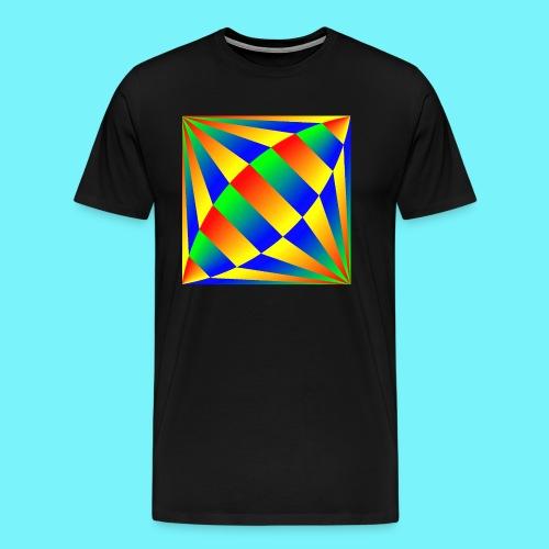 Giant cufflink design in blue, green, red, yellow. - Men's Premium T-Shirt