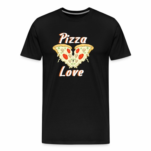 love to pizza - Camiseta premium hombre
