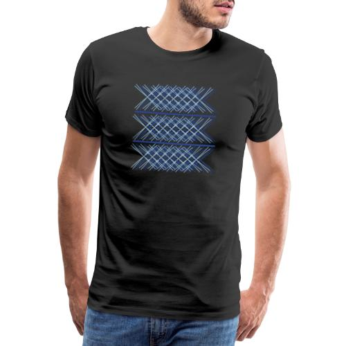 x abstract two colors blue - Men's Premium T-Shirt