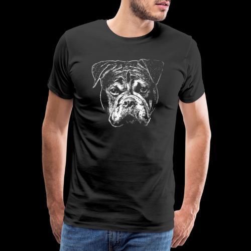Continental Bulldog Kopf Weiss-BOBBY - Männer Premium T-Shirt