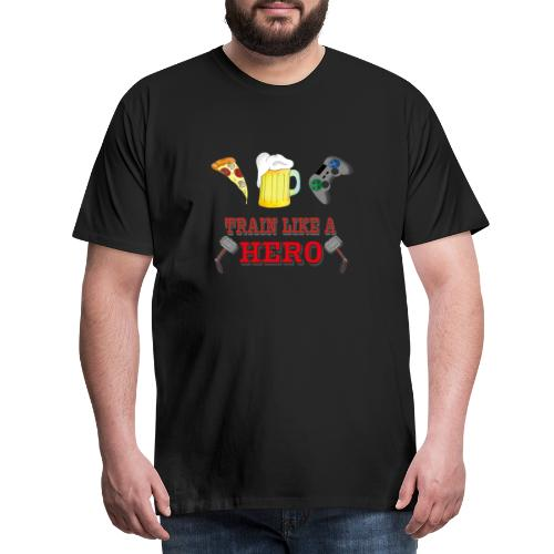 Train like a Hero - Männer Premium T-Shirt