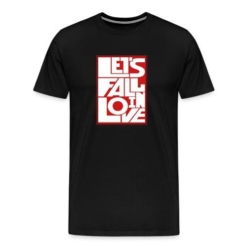 Liebe - sich verlieben - Geschenkidee - Geschenk - Männer Premium T-Shirt