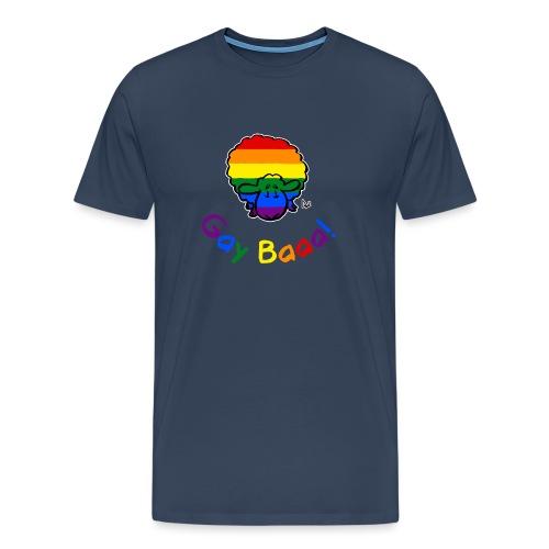 Gay Baaa! Pride Sheep (black edition rainbow text) - Men's Premium T-Shirt