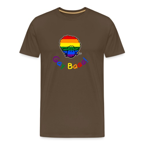 Gay Baaa! Pride Sheep (black edition rainbow text) - Men's Premium T-Shirt