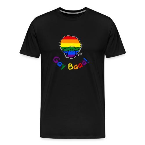Gay Baaa! Pride Sheep (testo arcobaleno edizione nera) - Maglietta Premium da uomo