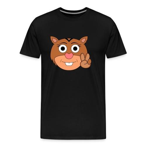 Ardilla Nina Mano - Camiseta premium hombre