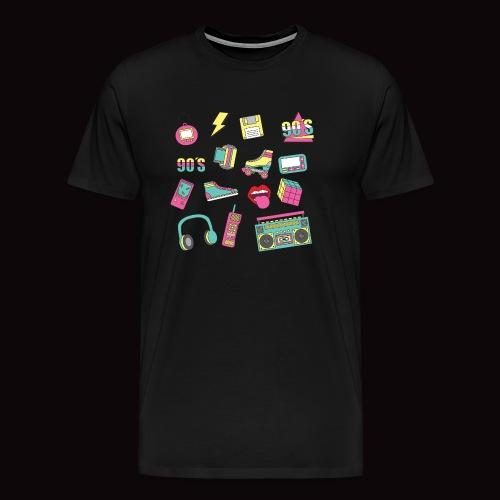 90 s - Camiseta premium hombre
