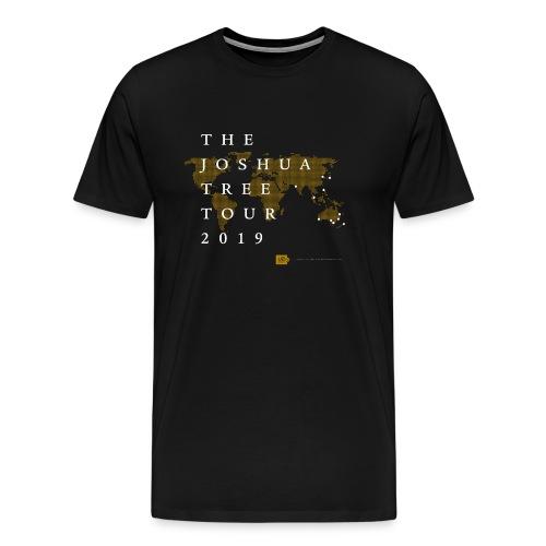 JT2019: World map with city list - Men's Premium T-Shirt
