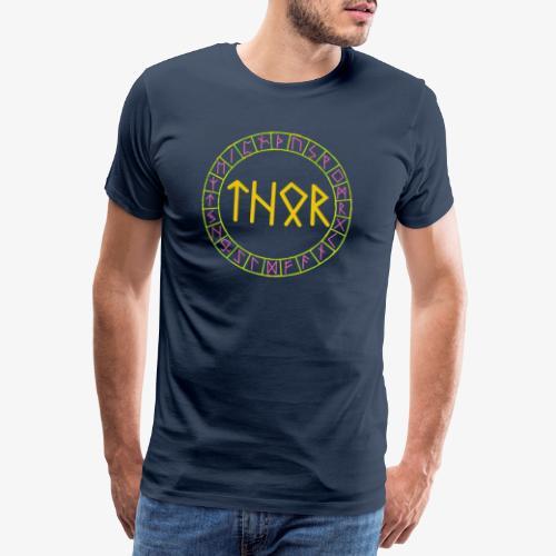 Wikinger - Name von Thor in Runen - Männer Premium T-Shirt
