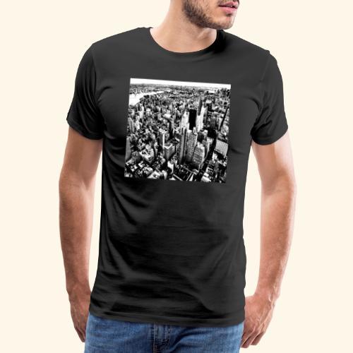 Manhattan in bianco e nero - Maglietta Premium da uomo