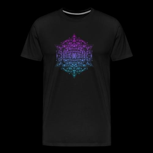 Sacred Hypercube Gradient - Men's Premium T-Shirt