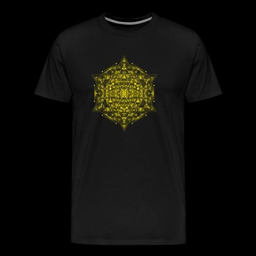Sacred Hypercube Yellow - Men's Premium T-Shirt