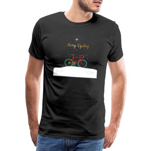 Fahrrad T-Shirt Merry Cycling Weihnachten - Männer Premium T-Shirt