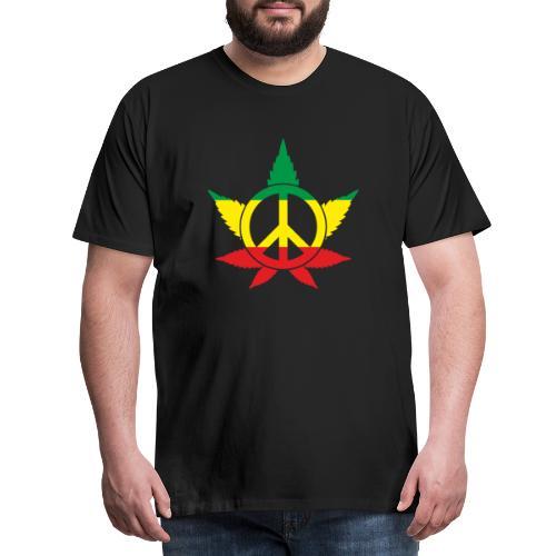Peace färbig - Männer Premium T-Shirt