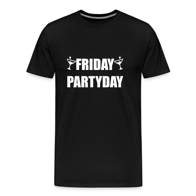 Friday Partyday Party Typografie