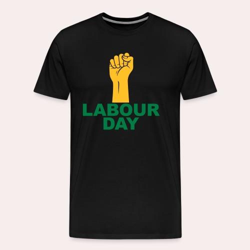 Día del trabajo / Puño en alto - Camiseta premium hombre