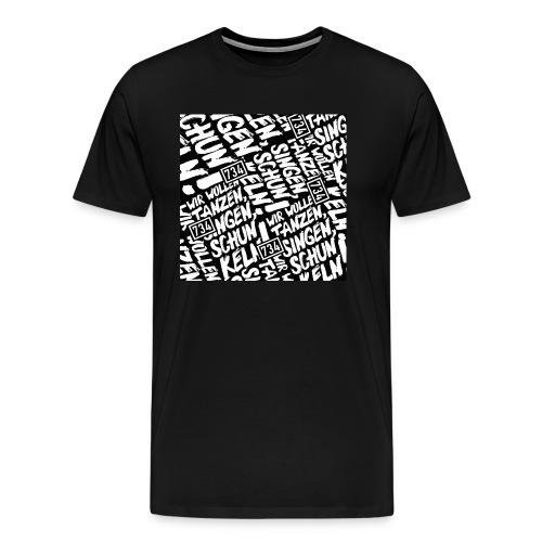 734 Behelfsmaske schwarz - Männer Premium T-Shirt