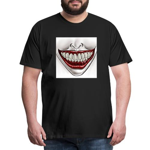 Smile Maske - Männer Premium T-Shirt