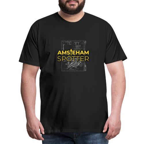 AMS/EHAM-Spotter - Miesten premium t-paita