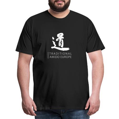 TAE logo white TRANSPARENT - Herre premium T-shirt