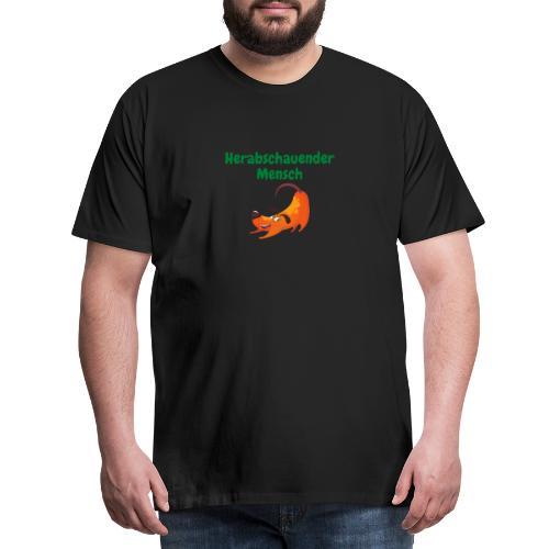 Herabschauender Mensch lustiges Shirt - Männer Premium T-Shirt
