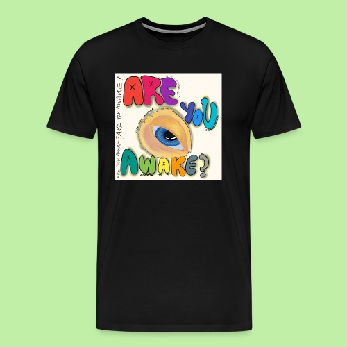 Are you awake? Surreal eye - Men's Premium T-Shirt