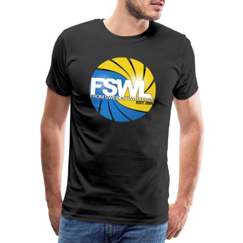 Transparent logo for From Sweden With Love (FSWL). - Premium-T-shirt herr