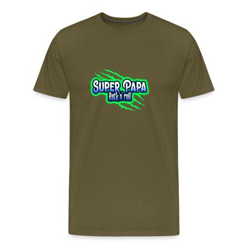 super papa rock'n' roll - T-shirt Premium Homme