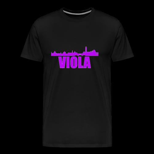 Florens Skyeline, Viola - Premium-T-shirt herr