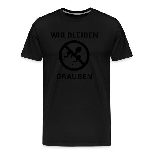 draussen_6x6 - Männer Premium T-Shirt
