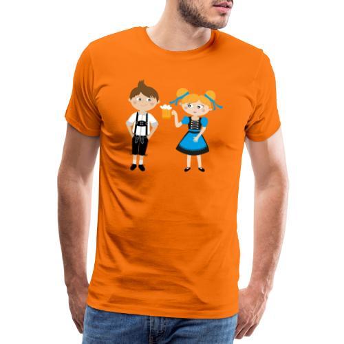 Dirndl, Bier und Lederhosen - Männer Premium T-Shirt