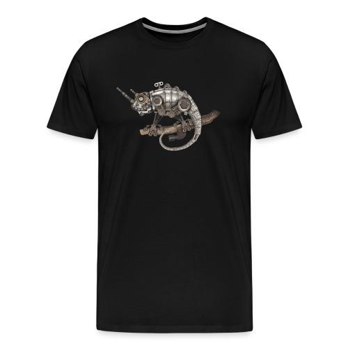 Steampunk Chamäleon - Männer Premium T-Shirt