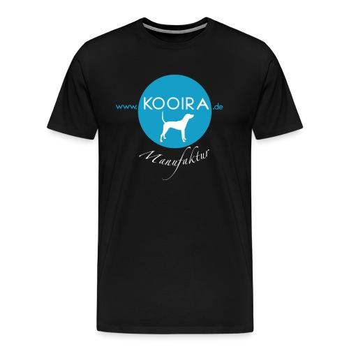 Logo KOOIRA Manufaktur V1 0 Druck White png - Männer Premium T-Shirt