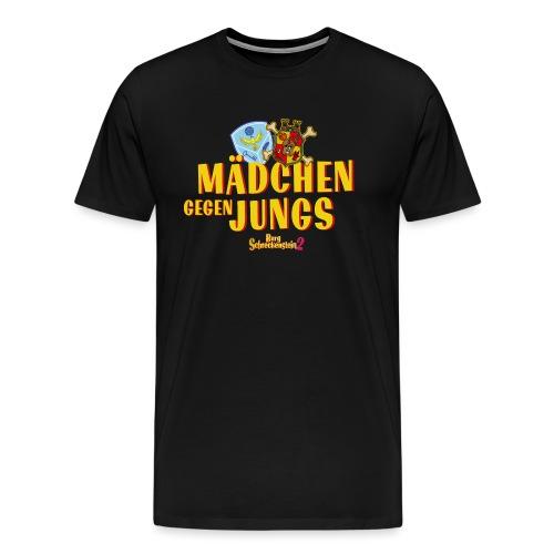 Mädchen gegen Jungs - Männer Premium T-Shirt