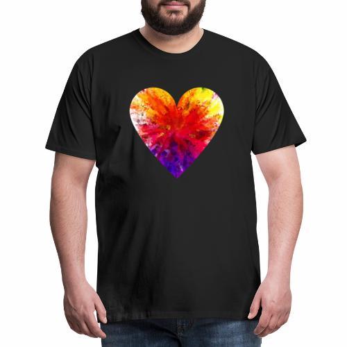 Herz Kristall - Männer Premium T-Shirt