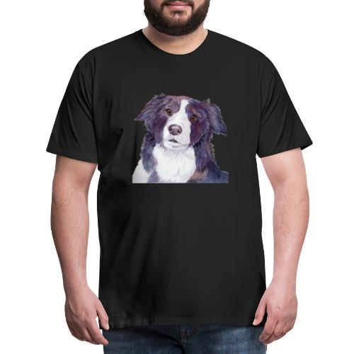 bordercollie coloristic - Herre premium T-shirt
