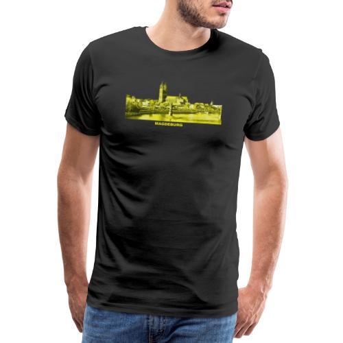 Magdeburg Dom Sachsen-Anhalt Deutschland Elbe - Männer Premium T-Shirt