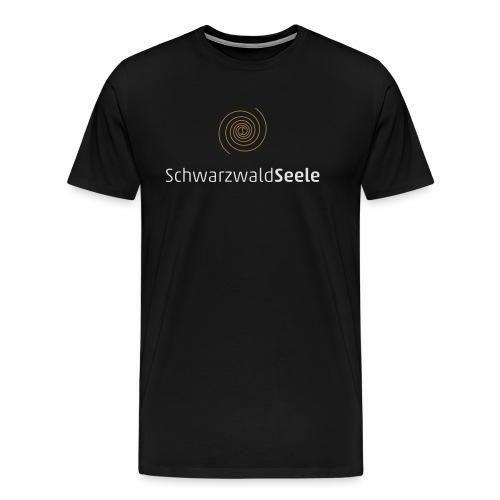 SchwarzwaldSeele Logo we - Männer Premium T-Shirt
