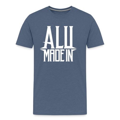 logo_alumadein_vecto_blan - T-shirt Premium Homme