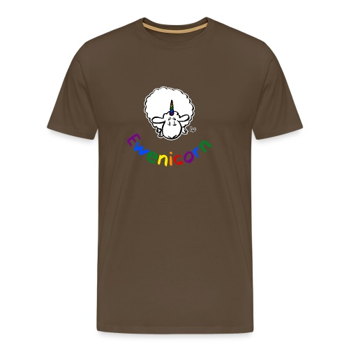 Ewenicorn (black edition rainbow text) - Men's Premium T-Shirt