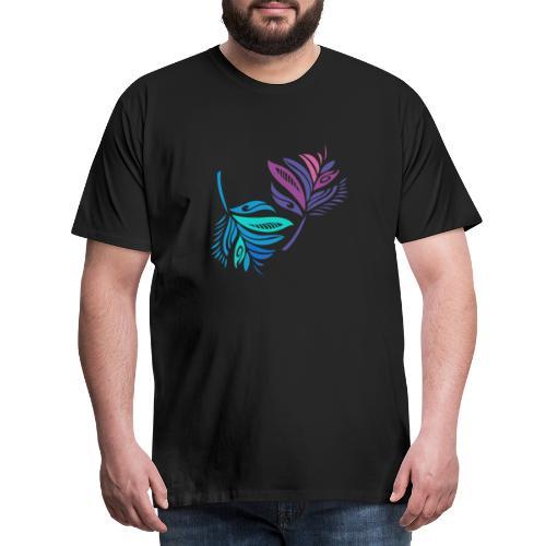 foglie geometriche - Maglietta Premium da uomo
