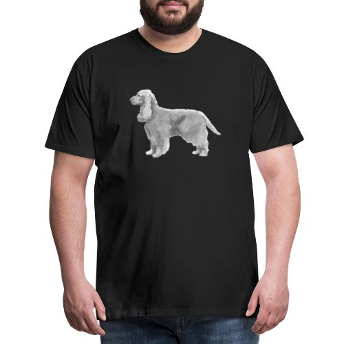 English cocker spaniel golden - Herre premium T-shirt
