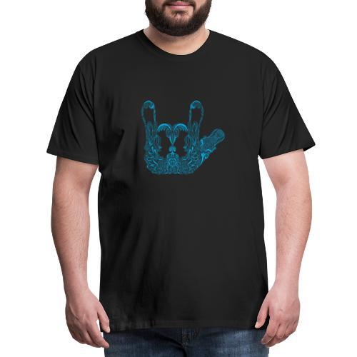 ILY Handzeichen Mandala - Männer Premium T-Shirt