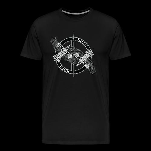 Hugin Munin - Premium-T-shirt herr