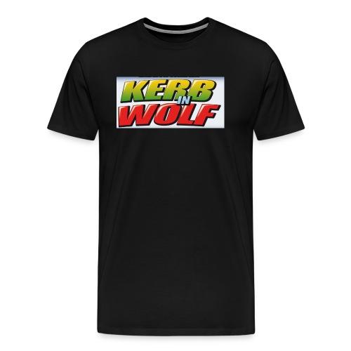 Logo Kerb in Wolf 3 - Männer Premium T-Shirt