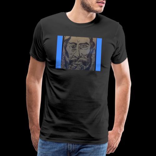 portrait Arcimboldo fusain - T-shirt Premium Homme