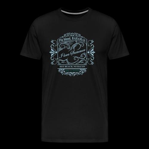 i love summer pig island - Men's Premium T-Shirt