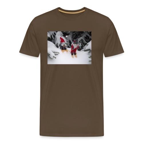 Joulutontut kilpasilla - Miesten premium t-paita
